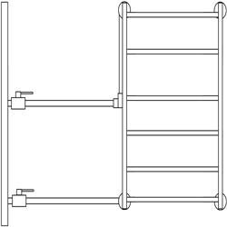 Рисунок 15. Боковое подключение, пример допустимого исполнения.